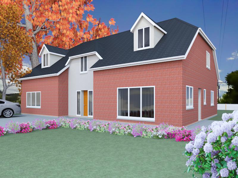 The berrington dormer bungalow designs for Dormer bungalow house plans