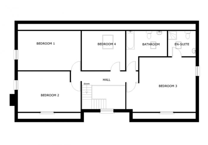 dormer bungalow floor plans
