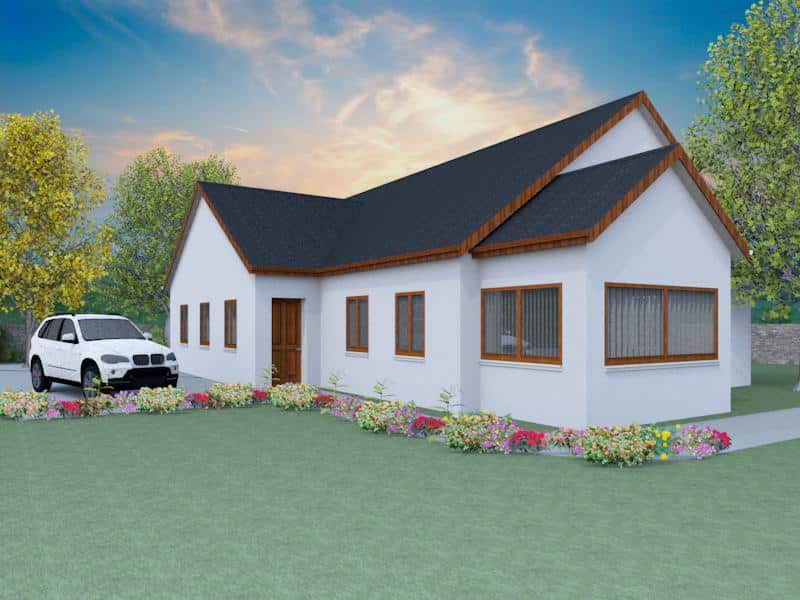 Traditional Bungalow House Plans - The Hildersley