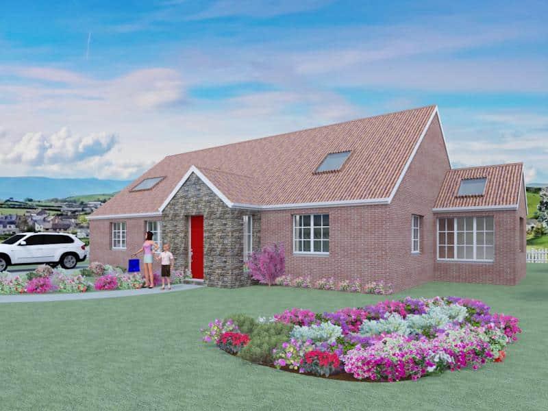 4 bedroom dormer bungalow plans the aconbury for Dormer bungalow floor plans