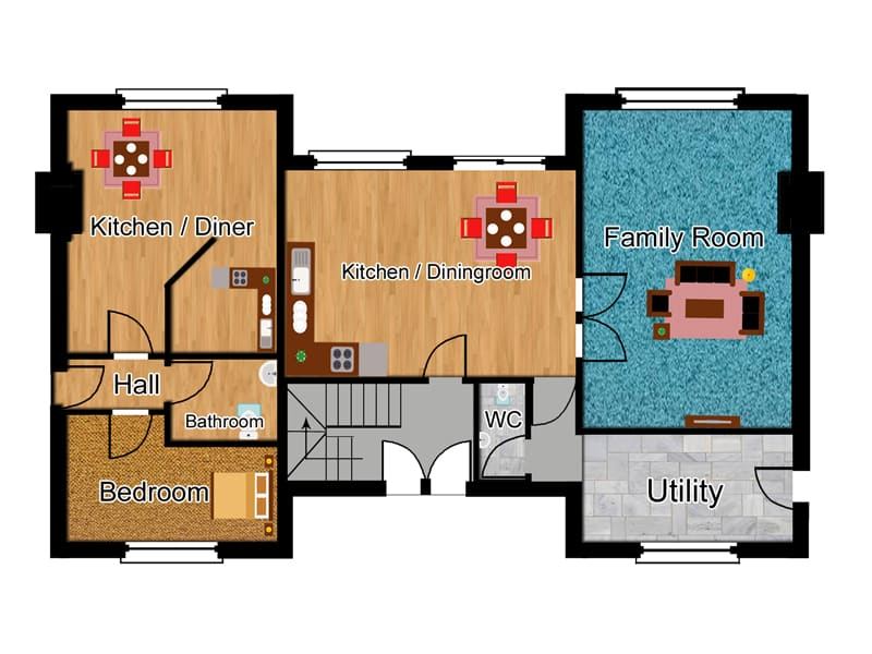 Home plan for self build the portway houseplansdirect for Self contained house plans