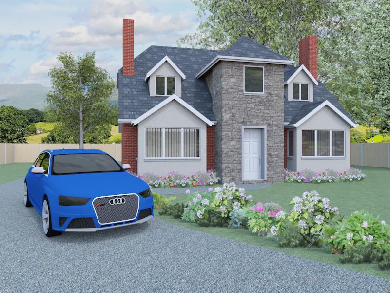 three bedroom house plans the tarrington houseplansdirect. Black Bedroom Furniture Sets. Home Design Ideas
