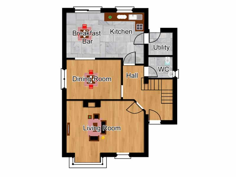 traditional four bedroom house designs
