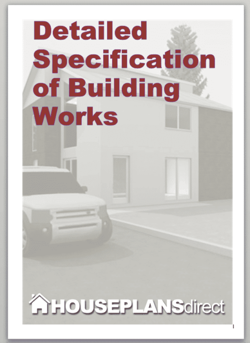 construction specifications template - building specifications template houseplansdirect