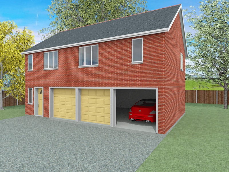 Granny annexe plans the lyde houseplansdirect for Annexe garage