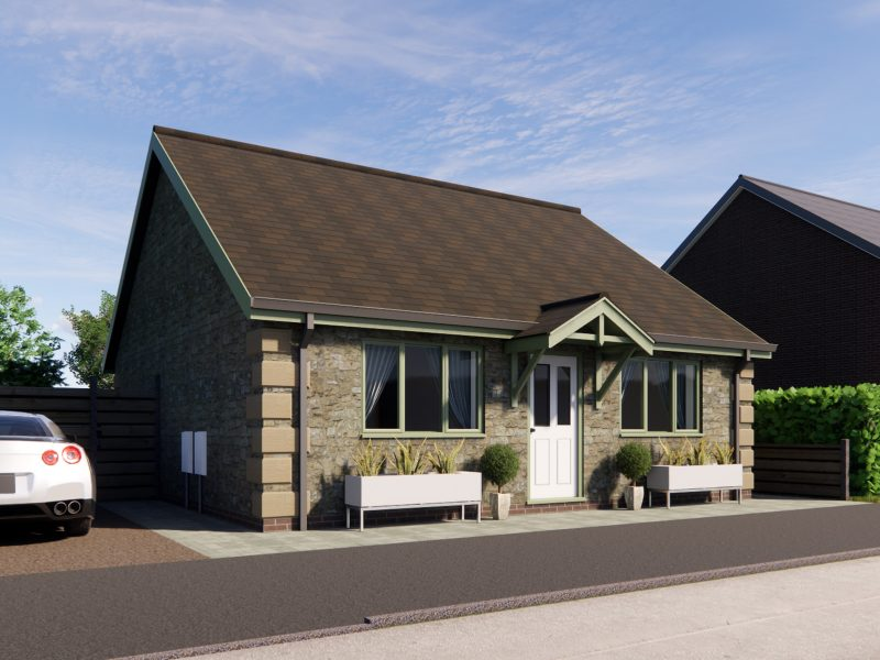 two bedroom bungalow plans