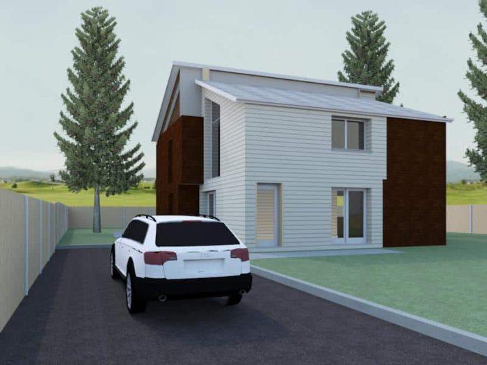 modern detached house plan