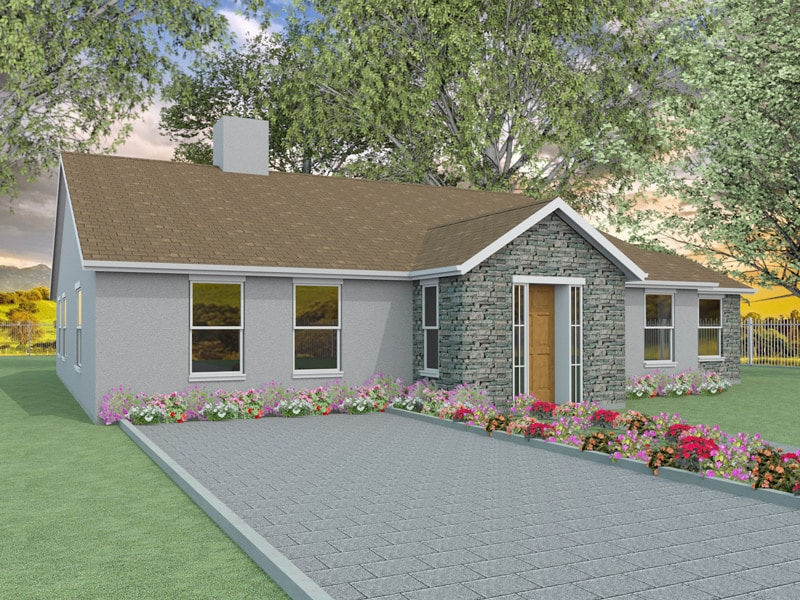 Two bedroom bungalow designs the millstream for Two bedroom bungalow plans