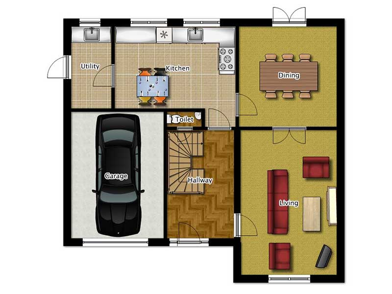 Four Bedroom House Plans The Moreton