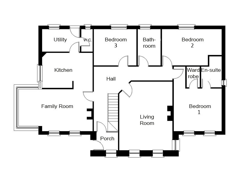Modern dormer bungalow designs the thornbury for 4 bedroom dormer bungalow plans