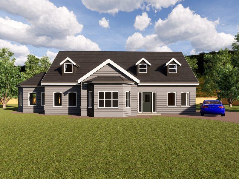 four bedroom dormer house plans