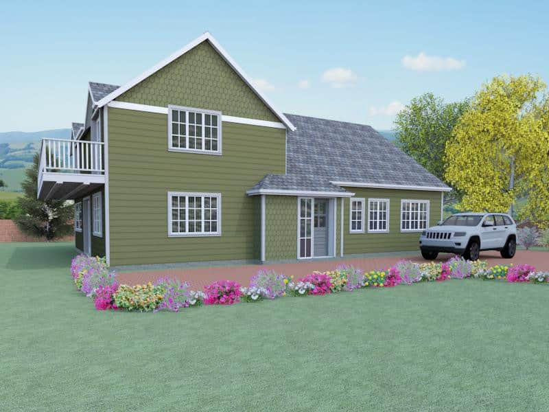 house plan with balcony