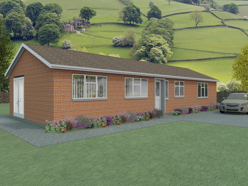 Simple bungalow plans the vowchurch houseplansdirect for Minimalist bungalow