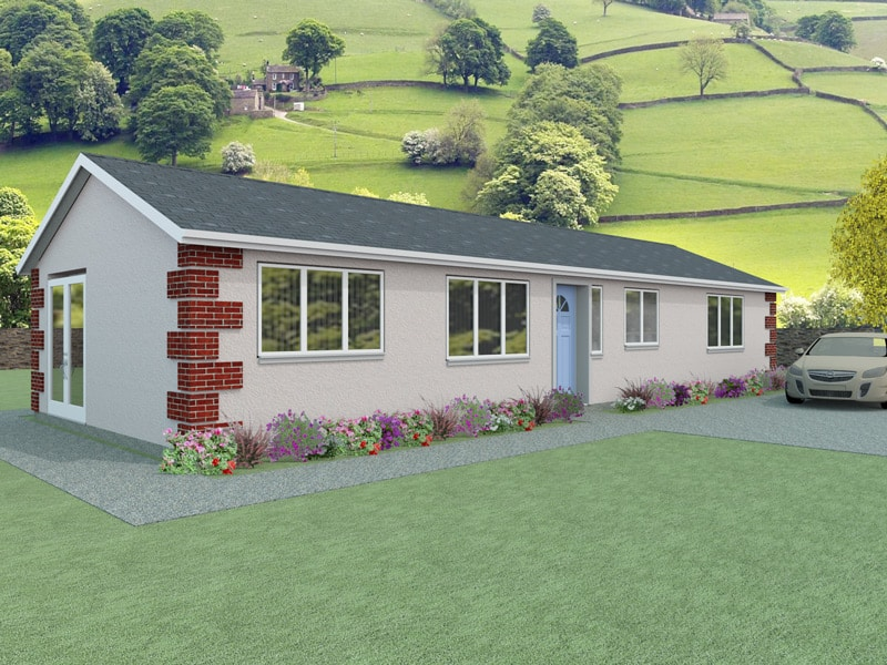 Simple bungalow plans the vowchurch houseplansdirect for Bungalow designs uk