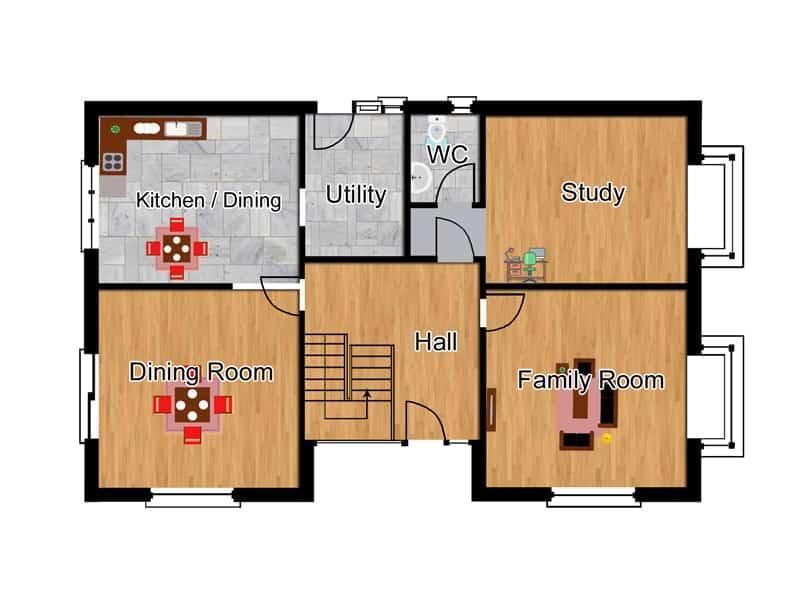 2 bedroom dormer bungalow plans
