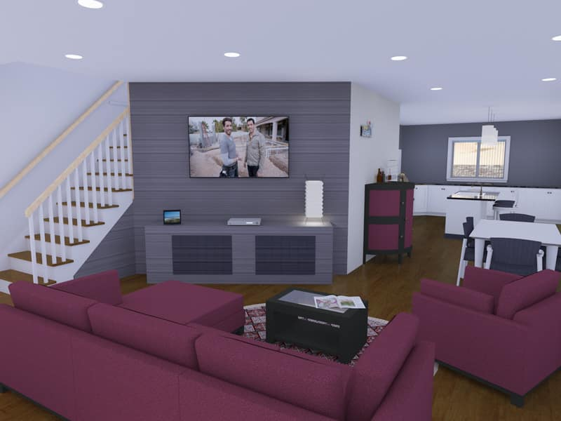 Contemporary house designs the westbrook houseplansdirect for Living room designs 2016 uk