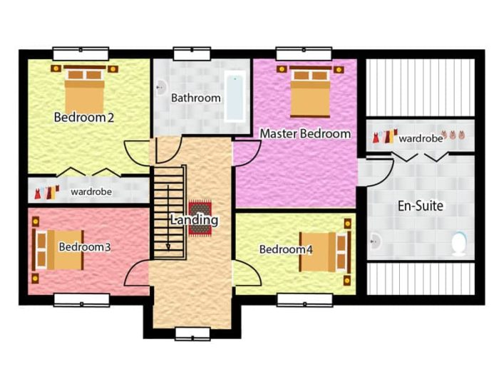 Detached family house plans the dormington for 4 bedroom house plans uk