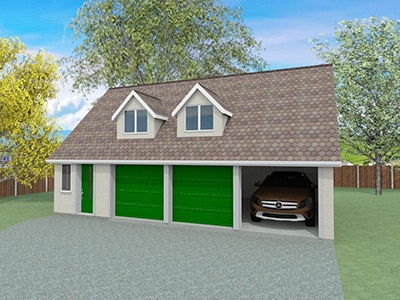 House plans and self build designs from houseplansdirect for Building garage plans free uk