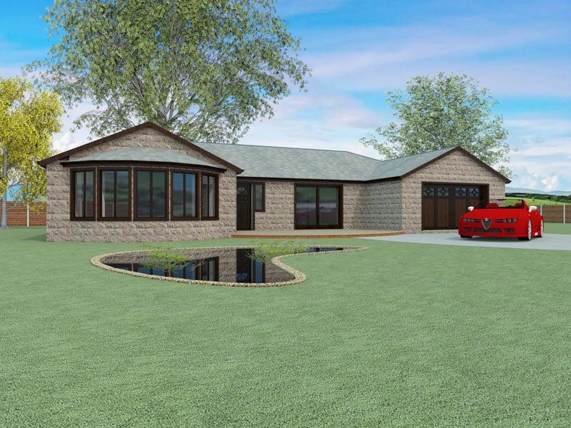 Single Storey Modern House Design The Felton