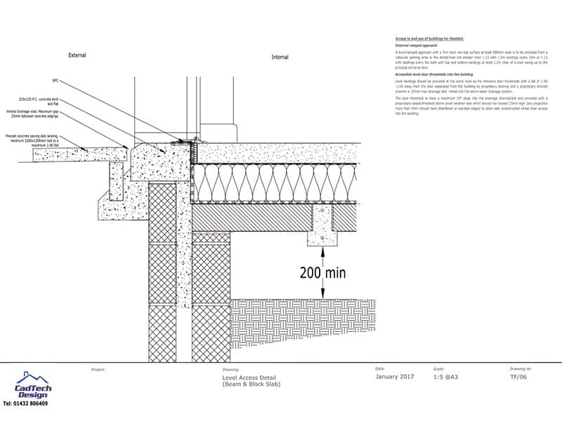 Beam And Block Slab Level Access Detail Drawing