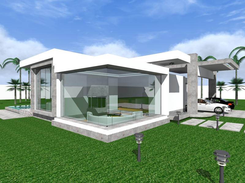 Three Bedroom Modern Bungalow Design - The Nakuru