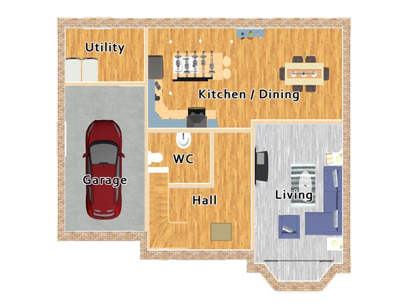 five bedroom house design