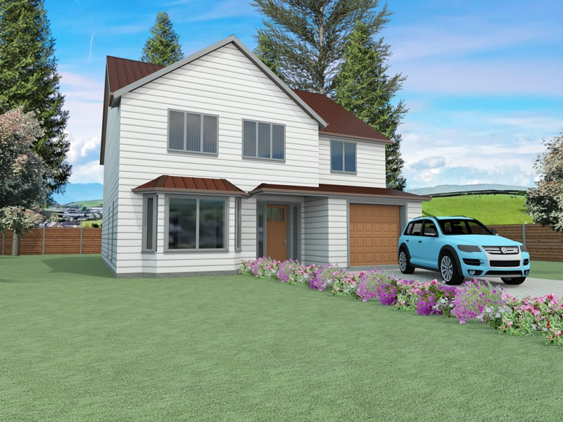 traditional four bedroom house design