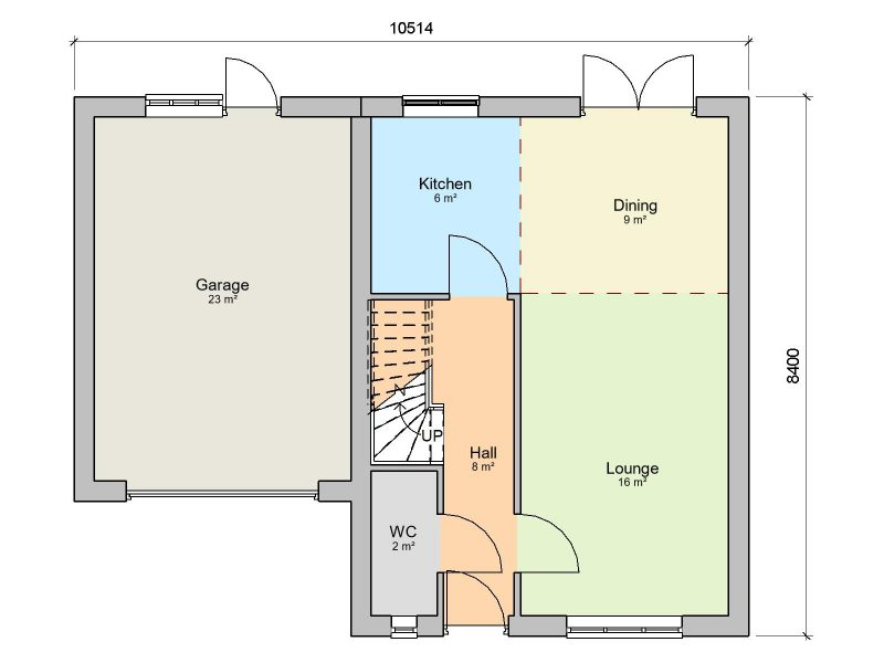 three bedroom detached house design