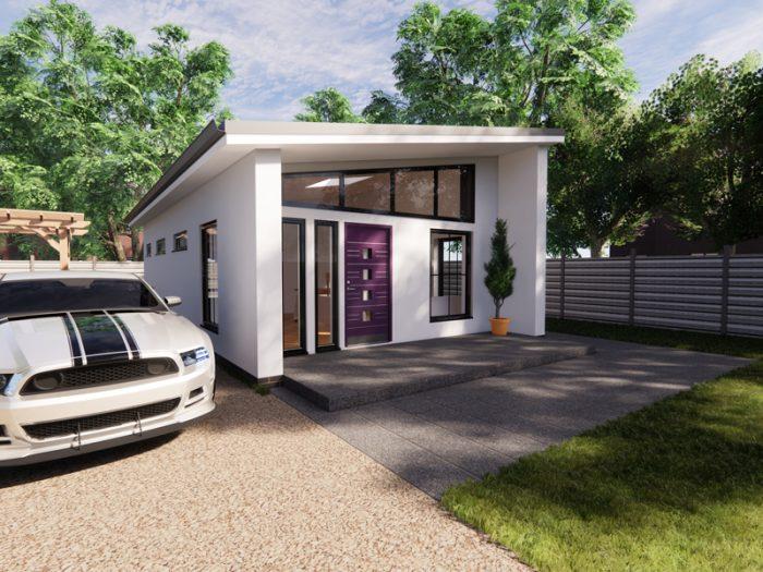 contemporary one bedroom bungalow design
