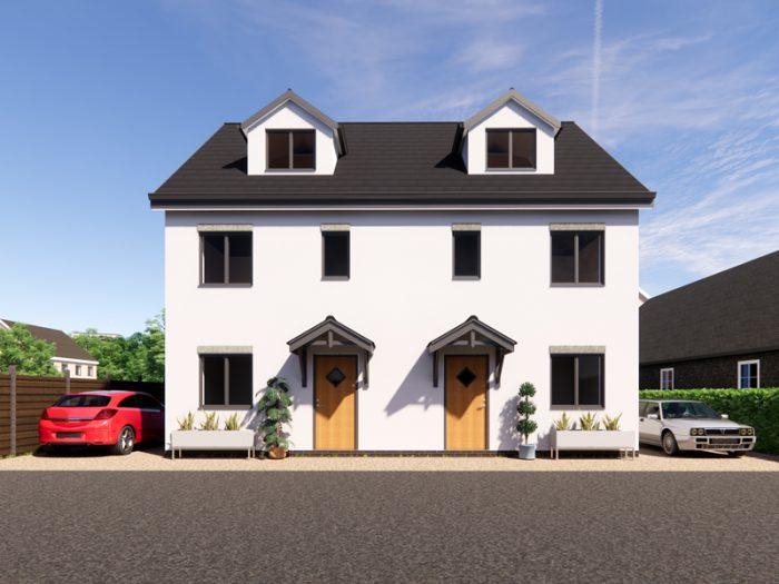 semi detached house plans