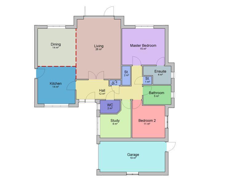 two bedroom bungalow design